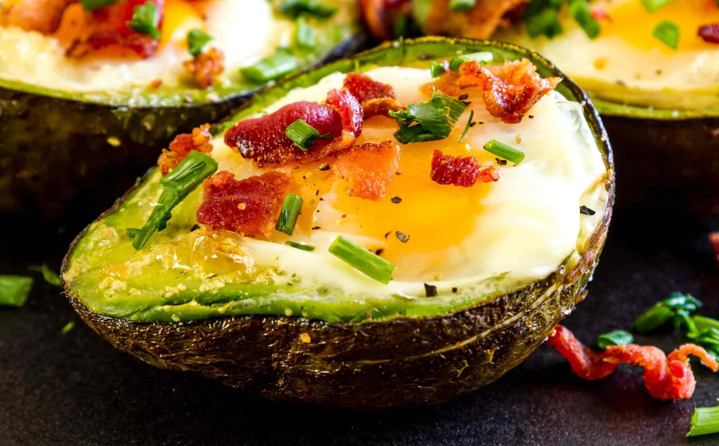 Avocado and Bacon breakfast